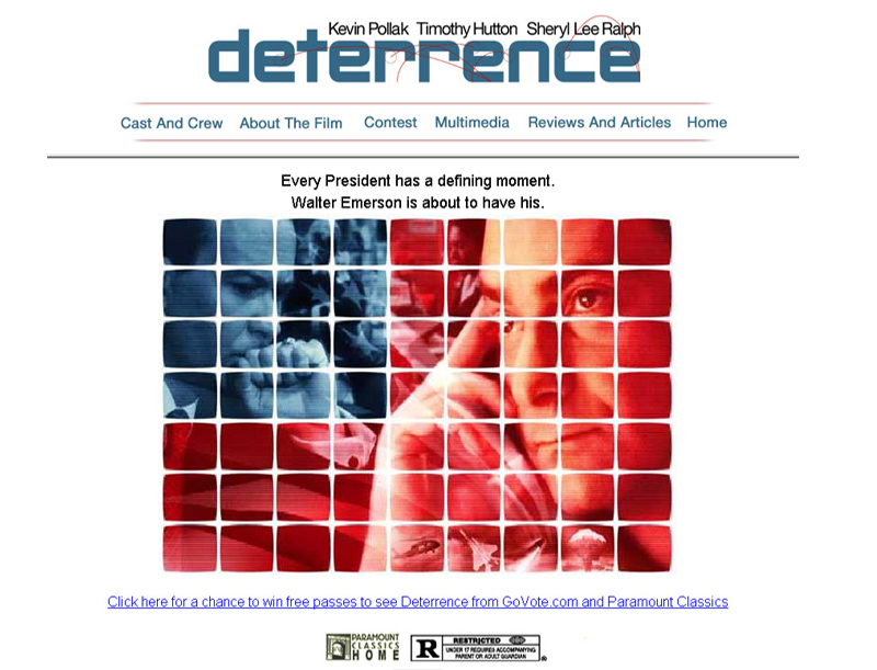 Deterrence Movie Website