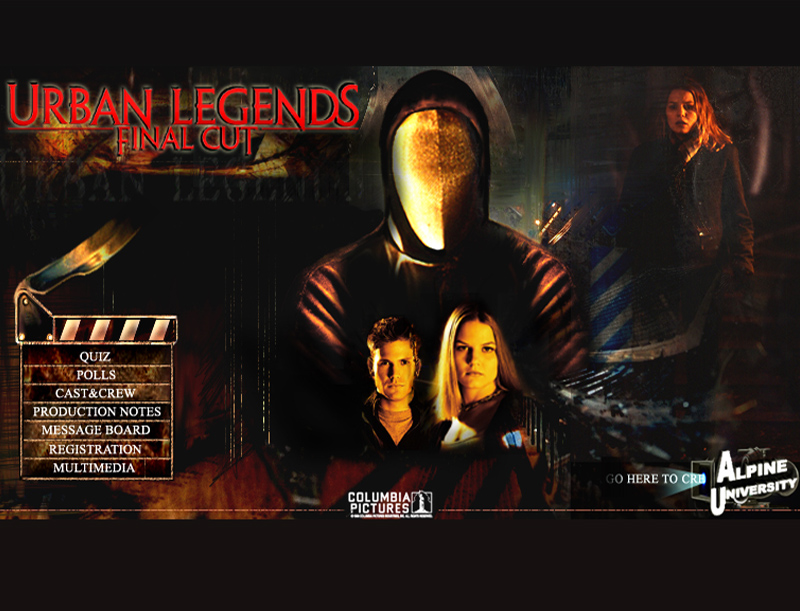 Urban Legends Movie Website