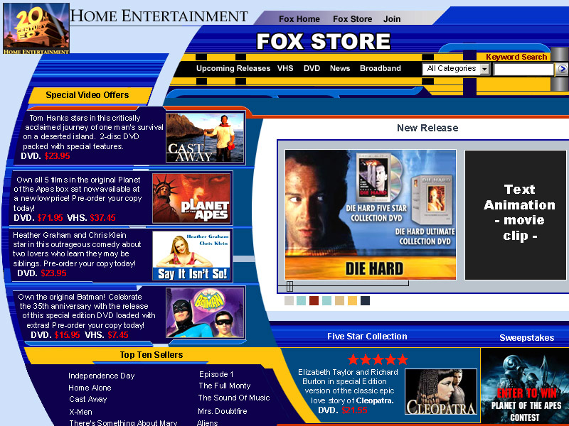 Fox Store Website