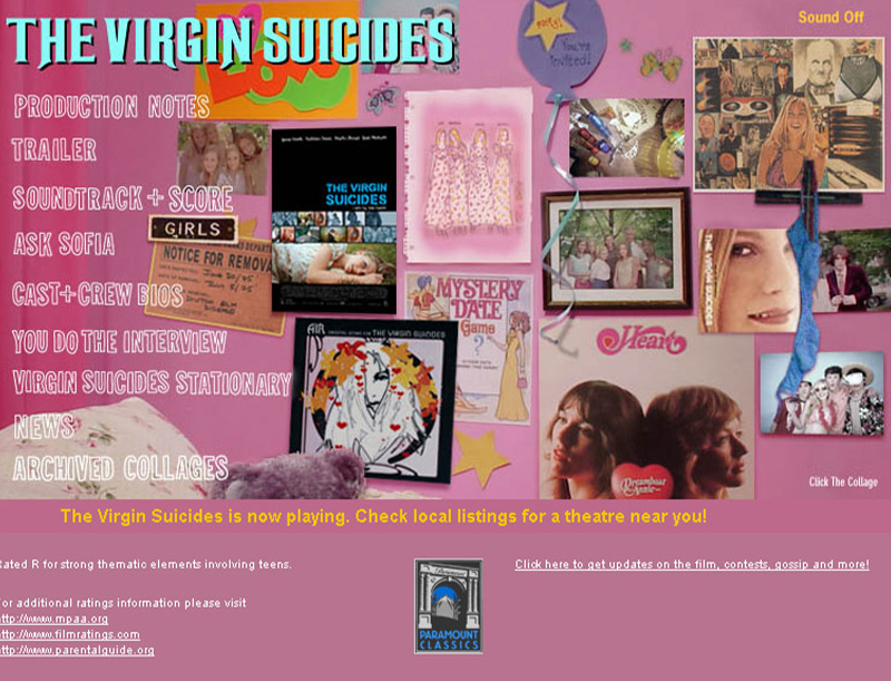 The Virgin Suicides Movie Website